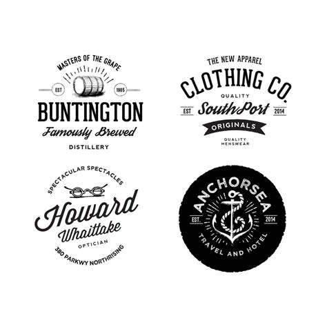 vintage style logo design photoshop vintage logos with badge psd material food psd file free