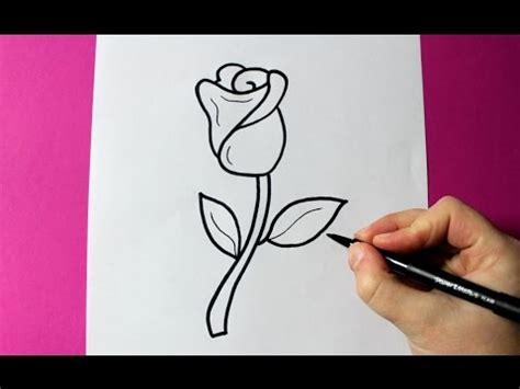 imagenes de una rosa para dibujar faciles how to draw a rose super easy rose to draw youtube