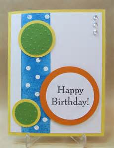 savvy handmade cards circles happy birthday card