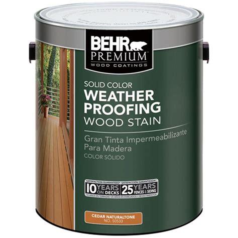 Behr Premium 1 Gal Cedar Naturaltone Solid Color