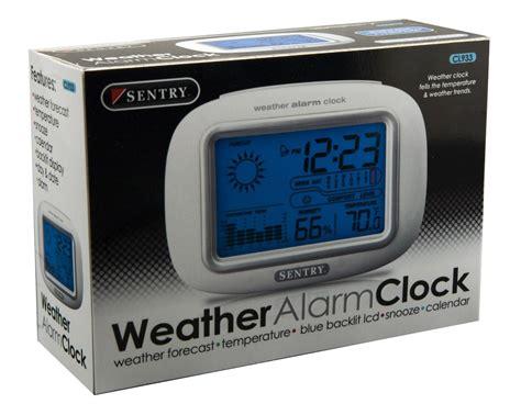 sentry big screen weather alarm clock cl933 ebay