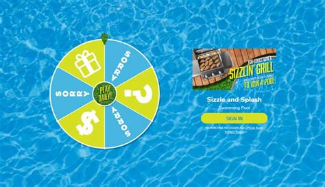 Shop Your Way Sweepstakes - shop your way sizzle and splash instant win game sweepstakes pit