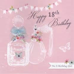 perfume bottles 18th birthday card karenza paperie