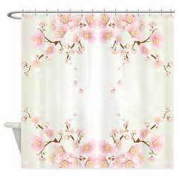 Bathroom d 233 cor gt cherry blossom oin pink and white shower curtain