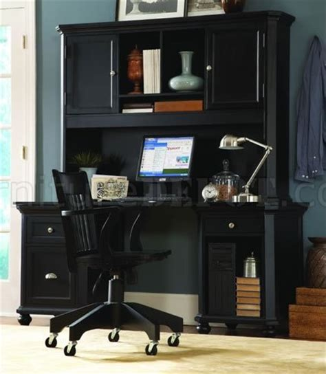 desk hutch organizer black black finish contemporary desk w hutch storage cabinets