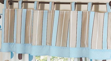 Blue And Brown Window Valance Window Valance For Blue And Brown Mod Dots Bedding Sets By
