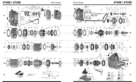 diagram of automatic transmission gm 4l30e transmission parts diagram gm free engine image