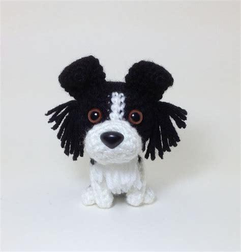 pattern white border collie border collie amigurumi dog crochet dog stuffed by