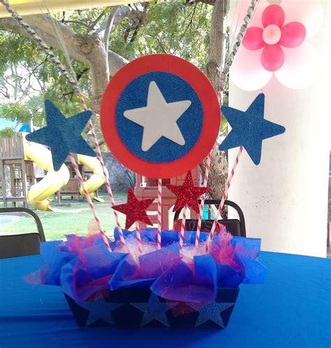 capitan america decoracion ambientacion cotilln fiestas centro de mesa fiesta tem 225 tica capit 225 n am 233 rica