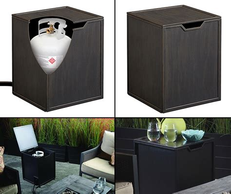 propane tank hideaway table propane tank hideaway protective cover side table