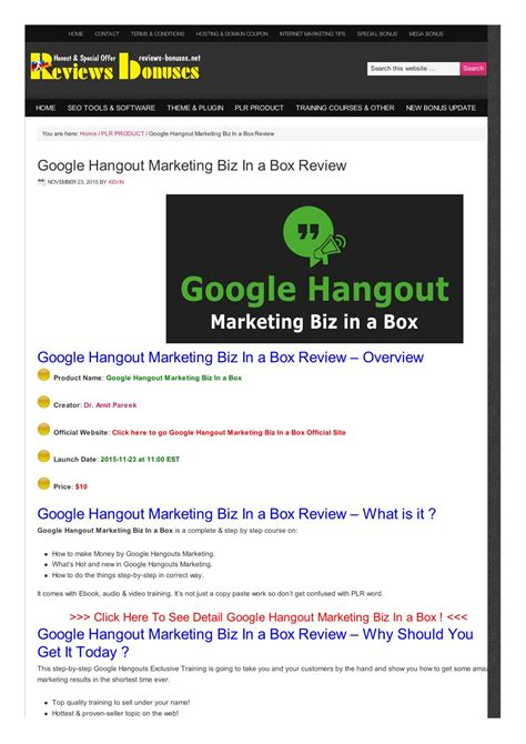theme google hangouts google hangout marketing biz in a box review by kevin issuu