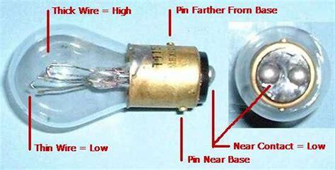 dual filament bulb polarity connections