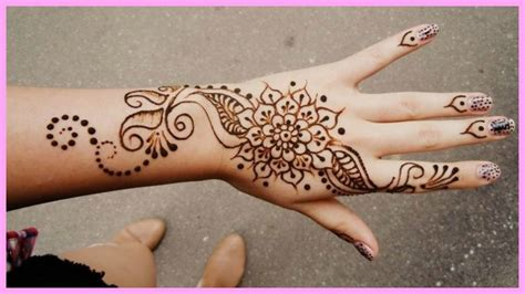 henna tattoo hand easy vorlagen diy inspired henna easy