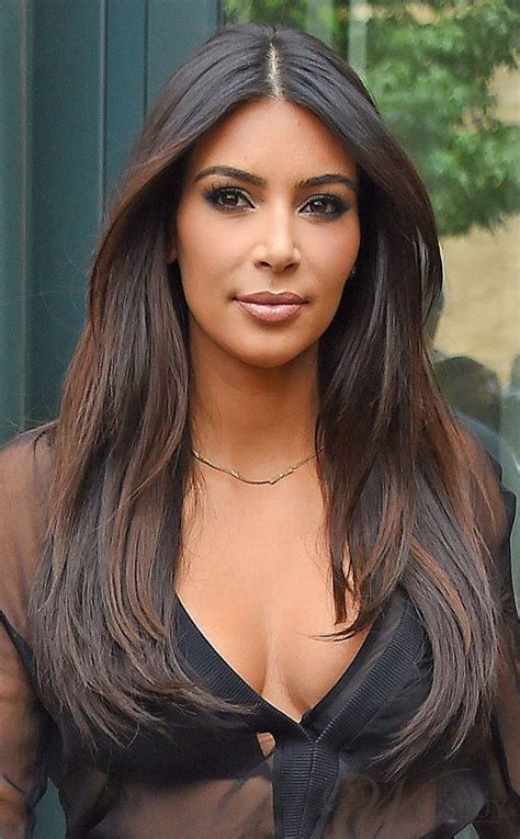 hair parting comes forward kim kardashian middle parting long straight lace front