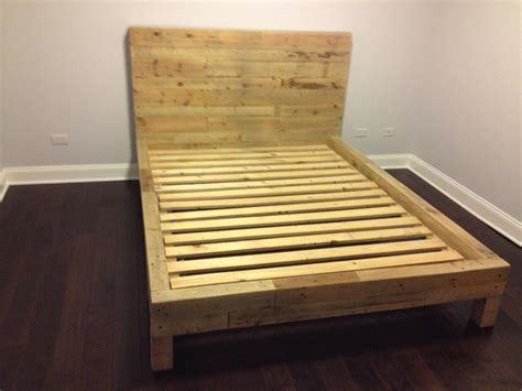 Shipping Pallet Bed Frame Reclaimed Shipping Pallet Bed Frame