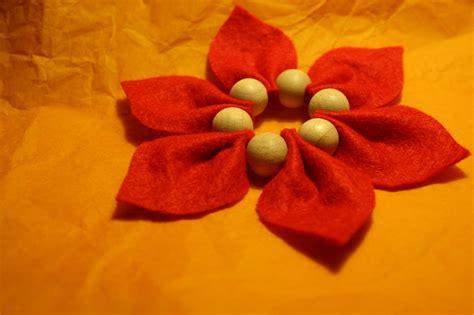 with felt crafts felt poinsettia stitch and purl