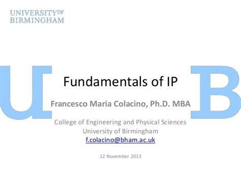 List Of Colleges Ip For Mba by Fundamentals Of Ip Francesco Colacino