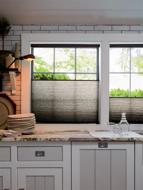kitchen window treatment 10 stylish kitchen window treatment ideas hgtv