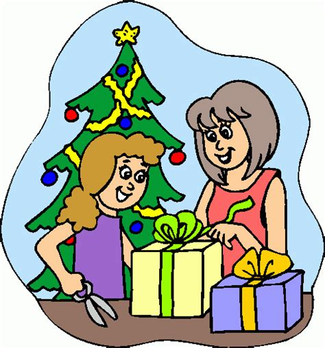 gift wrapping wrapped christmas gifts cliparts co