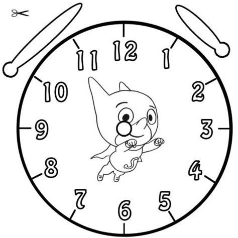 Kostenlose Vorlage Uhr Kostenlose Malvorlage Uhrzeit Lernen Ausmalbild Samsam Zum Ausmalen