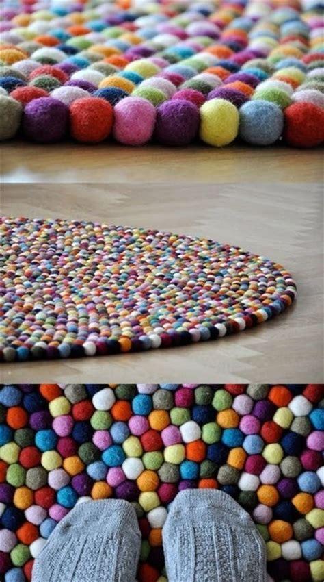 make felt rug gorgeous bobble rug crafty things rugs and felt rug