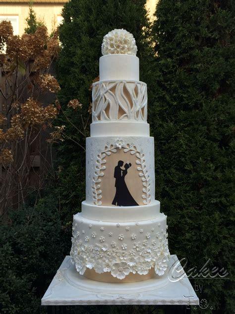 modern wedding cake inspired  fashion cakecentralcom