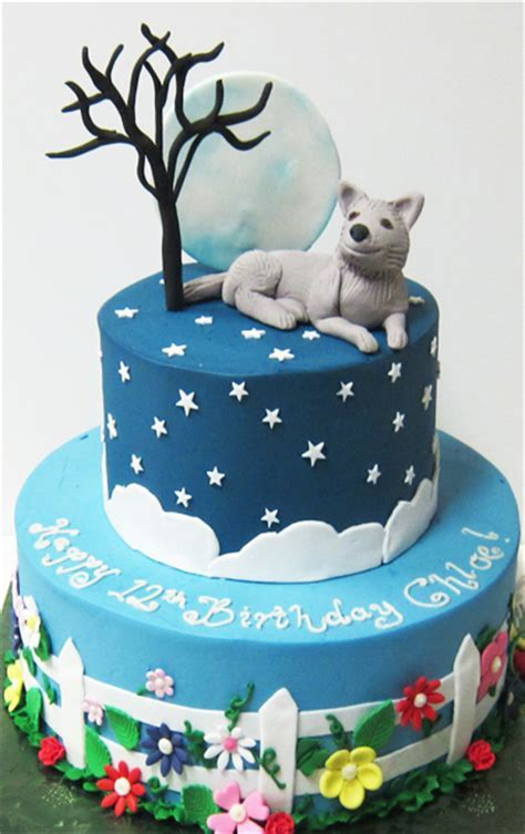 Howl at the Moon Birthday Cake   Scrumptions