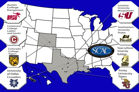 texas colleges and universities map membership stabilize scac