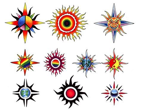 cool sun tattoo designs sun designs cool tattoos bonbaden