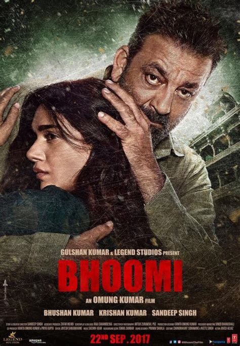 film india bhoomi bhoomi poster sanjay dutt and aditi rao hydari s father