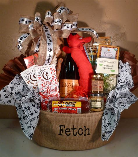 themed gift baskets ideas dog themed gift basket bella vino gift baskets llc