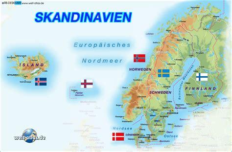 skandinavische bilder karte skandinavien region in mehrere l 228 ndern welt