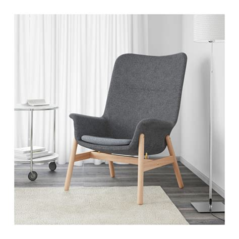 Back Armchair by Vedbo High Back Armchair Gunnared Grey