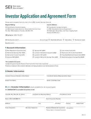 Investor Agreement Forms Fill Online Printable Fillable Blank Pdffiller Investor Agreement Template