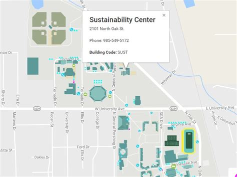 louisiana edu map sustainability