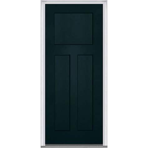 3 Panel Exterior Door Milliken Millwork 33 5 In X 81 75 In Shaker 3 Panel Painted Fiberglass Smooth Exterior Door