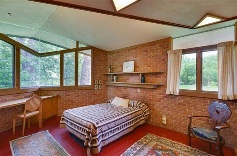 frank lloyd wright bedroom this one of a kind house is on the market real simple