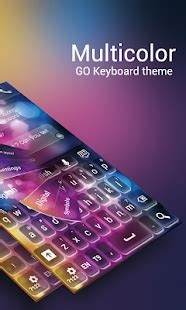 keyboard themes for kindle app go keyboard multicolor theme apk for kindle fire