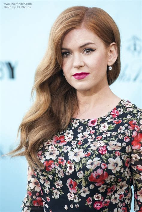 old fashioned hairstyles for long hair isla fisher long gatsby hairstyle with old fashioned