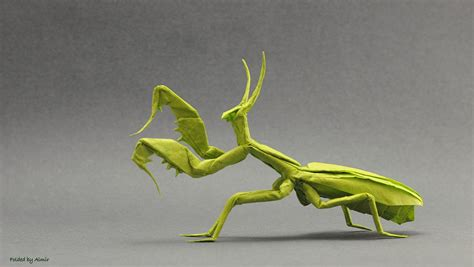 praying mantis origami 24 incredibly realistic looking origami insects
