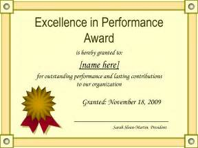 Certificate Of Outstanding Performance With A Formal Blue Frame Design » Home Design 2017