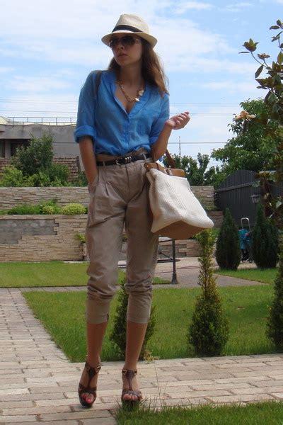 blue zara shirts brown il passo shoes beige newyorker