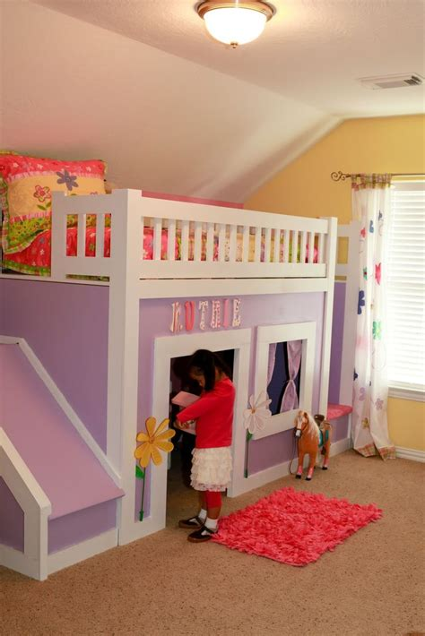 princess bed with stairs and slide do it yourself home projects from ana white paityn