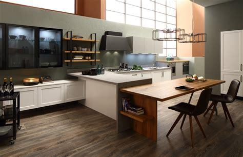 tavolo snack cucina progetto cucina su due pareti con penisola e tavolo snack