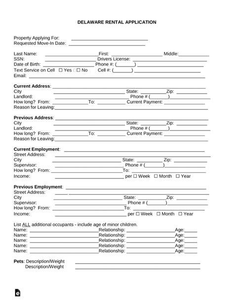 rental application form pdf real estate forms