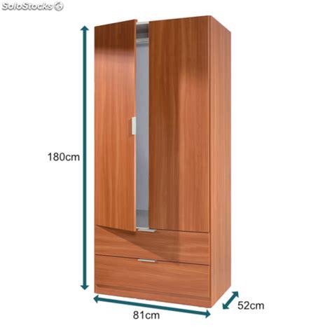 armario ropero armario ropero con cajones color cerezo 180cm mueble de