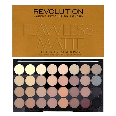 Original Brown Ultra Eyeshadow Palette Preloved revolution ultra 32 shade eyeshadow palette flawless matte revolutionbeauty