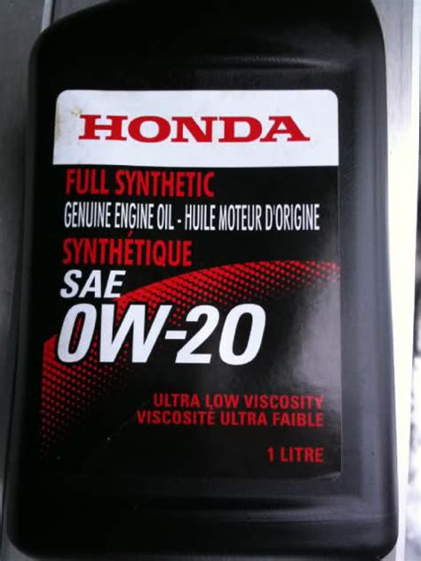 all or most new honda s switched to honda 0w 20