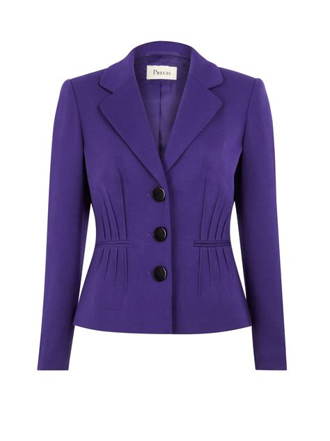 Bench Jackets Women Precis Petite Purple Pintuck Jacket In Purple Lyst
