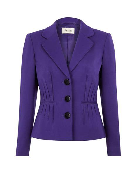 Dpurple Coat Blazer Ungu Korea Jaket precis purple pintuck jacket in purple lyst